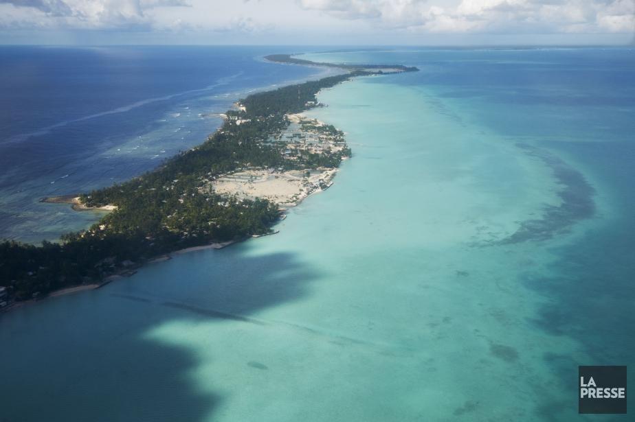 Le MV Butiraoi, un catamaran en bois de... (Photo archives La Presse)