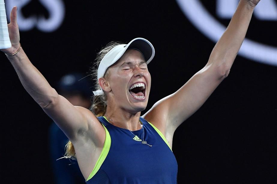 Caroline Wozniacki a remporté sonpremier titre dans un... (PHOTO GREG WOOD, AGENCE FRANCE-PRESSE)