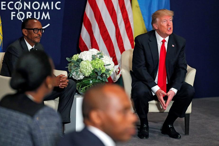 Donald Trump a rencontré le président du Rwanda... (PHOTO CARLOS BARRIA, REUTERS)