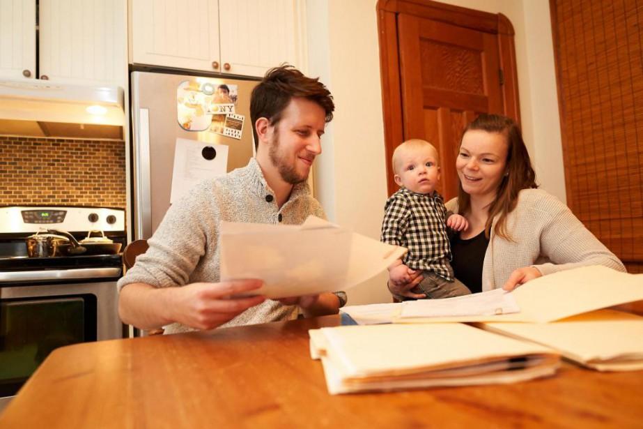 Simon Boisier Michaud, Isabelle Plante et leur fils... (Photo André Pichette, La Presse)