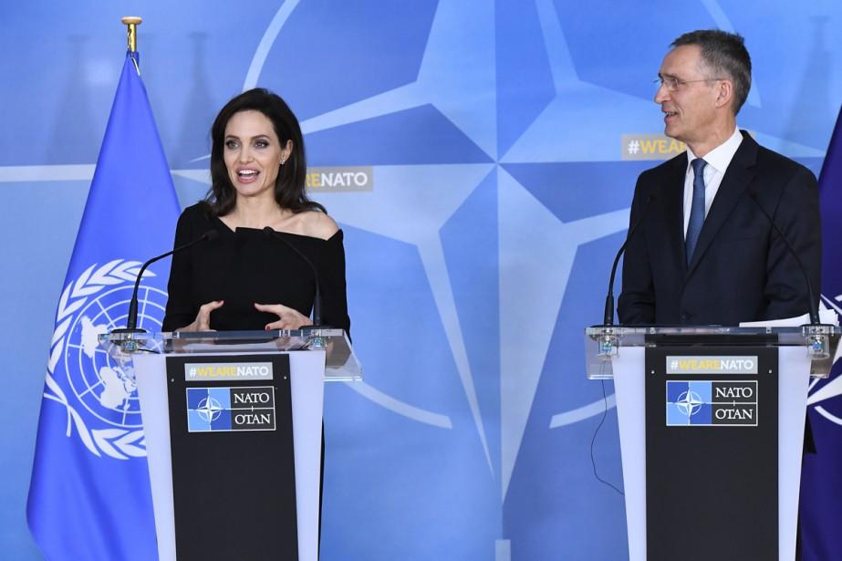Angelina Jolie a annoncé mercredi qu'elle allait collaborer... (Photo AFP)