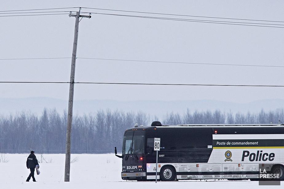 Le poste de commandement de laSûreté du Québec... (Patrick Sanfaçon, La Presse)