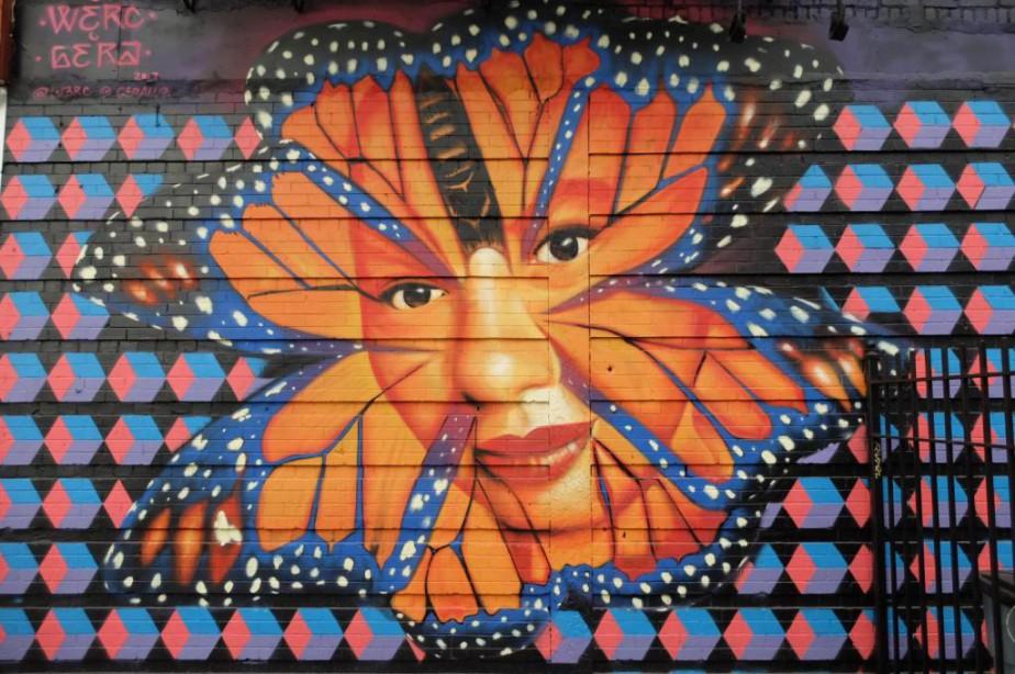 Oeuvre murale à Bushwick... (Photo Philippe Mercure, La Presse)