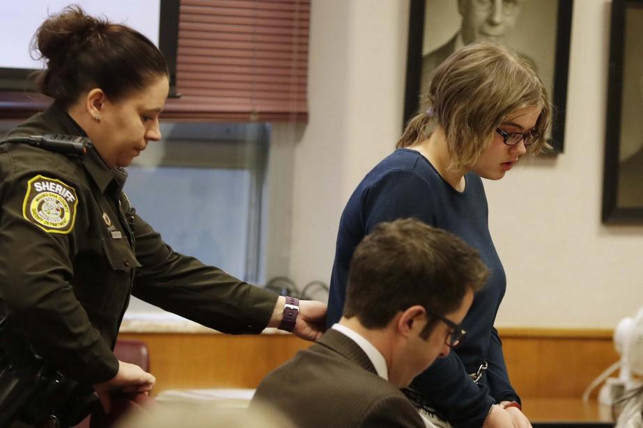 Morgan Geyser lors de son apparition en cour... (PHOTO AP)
