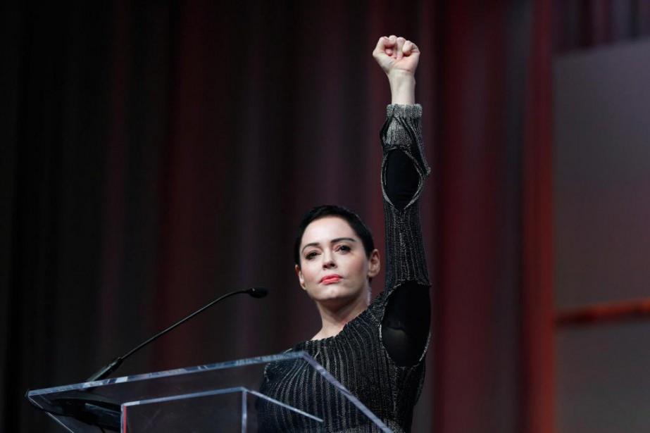 Figure emblématique du mouvement #metoo, l'actrice Rose McGowan... (photoPaul Sancya, archives associated press)
