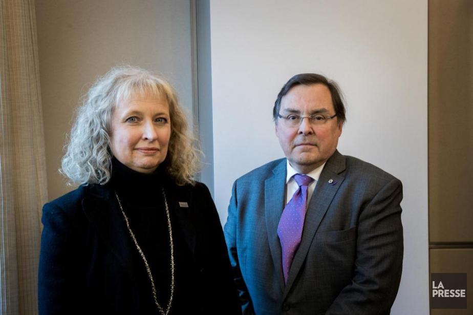 Guy Breton, recteur de l'Université de Montréal, et... (Photo Marco Campanozzi, La Presse)