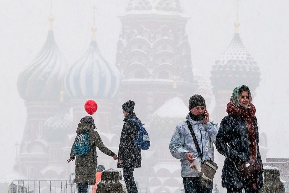 Moscou a reçu sa plus forte tempête de... (Yuri KADOBNOV, AFP)