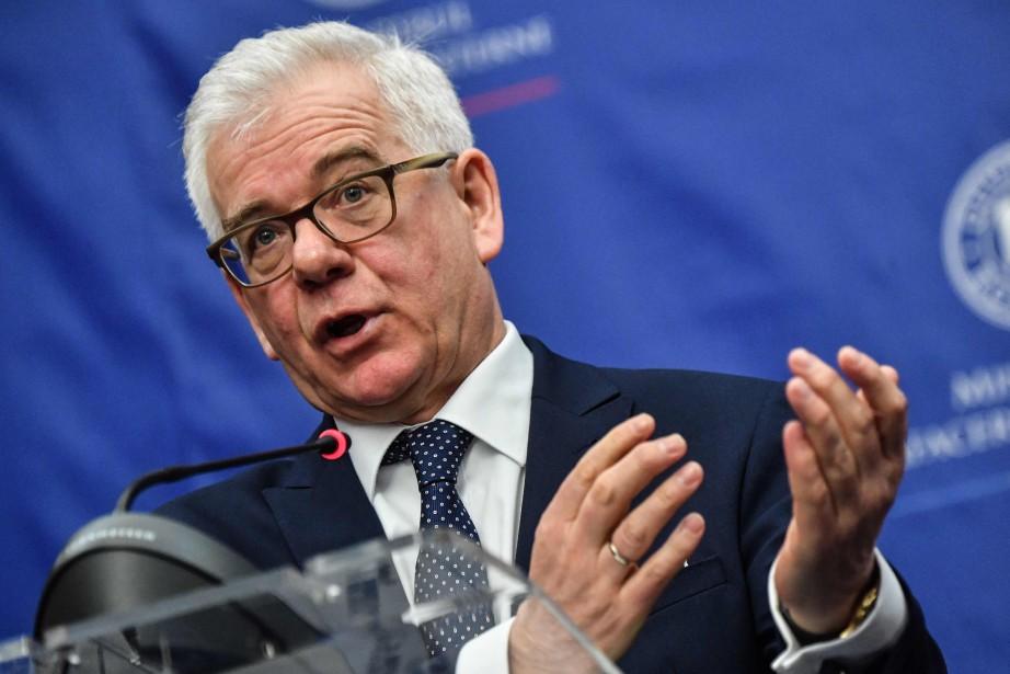 Le chef de la diplomatie polonaise, Jacek Czaputowicz.... (AFP)
