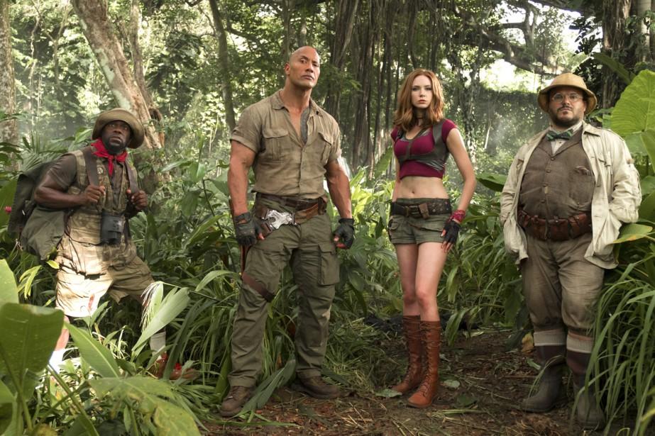Kevin Hart, Dwayne Johnson, Karen Gillan et Jack... (Photo fournie par Sony Pictures)