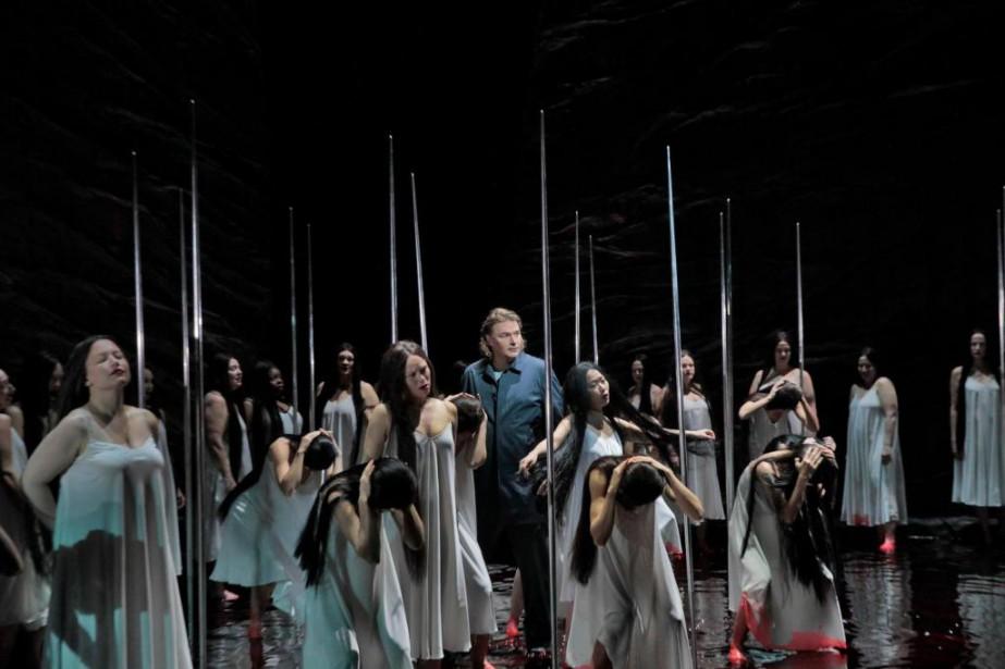 Klaus Florian Vogt (Parsifal) dans l'opéra Parsifal... (PHOTO KENHOWARD, FOURNIE PAR LE METROPOLITAN OPERA)