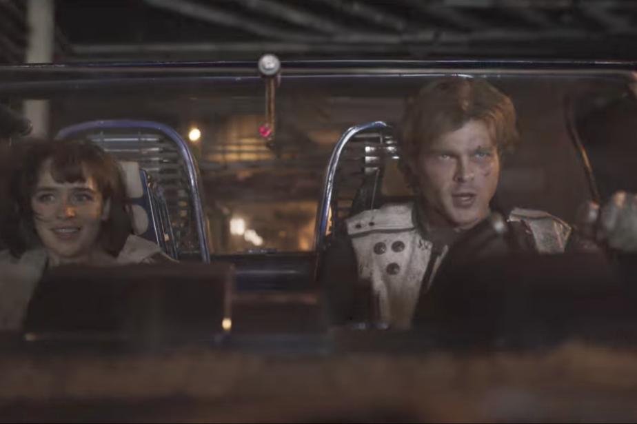 La voiture de Han Solo semble pour l'instant présentée seulement... | 2018-02-05 00:00:00.000
