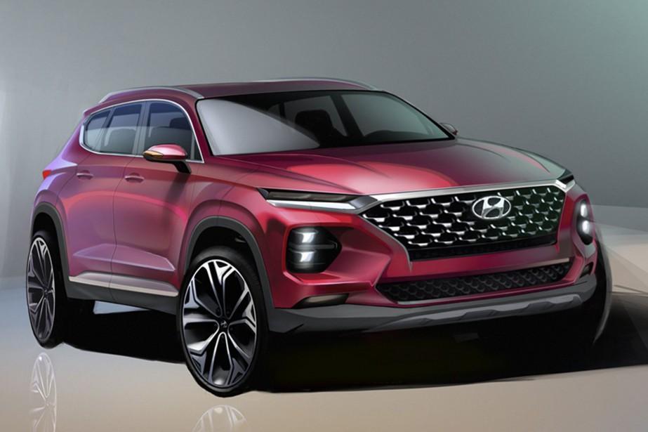 Hyundai a diffusé deux esquisses du prochain Santa Fe.... | 2018-02-05 00:00:00.000