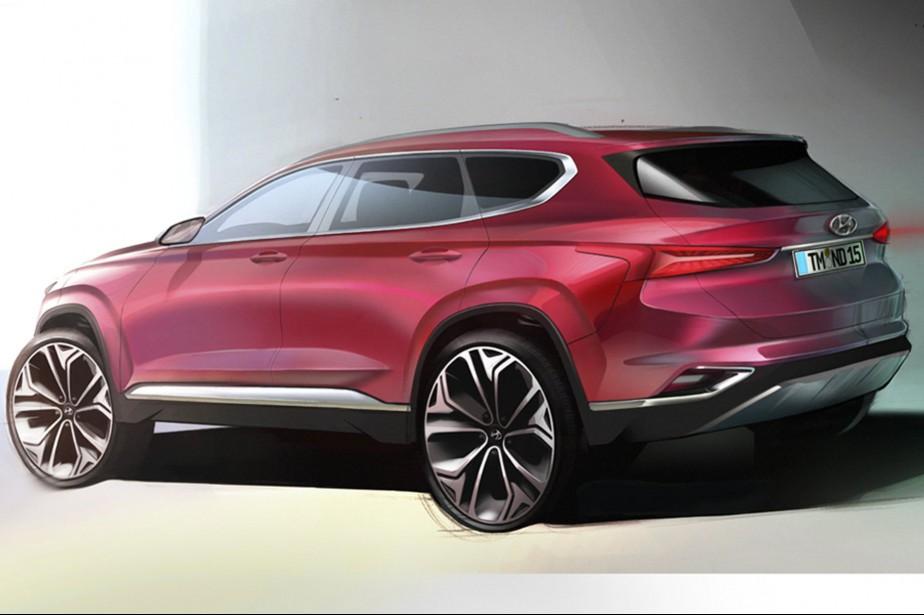 Hyundai a diffusé deux esquisses du prochain Santa Fe. | 5 février 2018