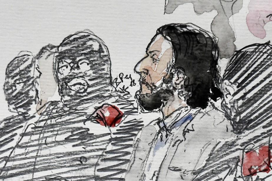 Un dessin de cour montrant Salah Abdeslam.... (Photo Benoit PEYRUCQ, Agence France-Presse)