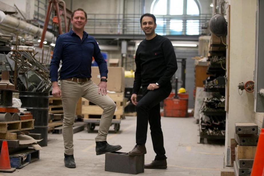Mehrdad Mahoutian et Chris Stern, cofondateurs de Carbicrete,... (Photo François Roy, La Presse)
