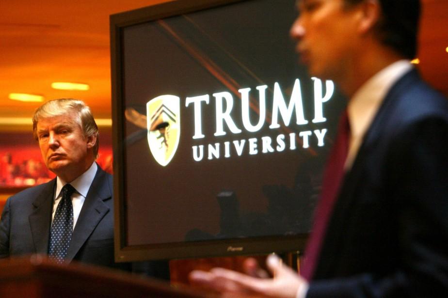 Des ex-étudiants de l'Université Trump se disaient floués... (Photo archives AP)