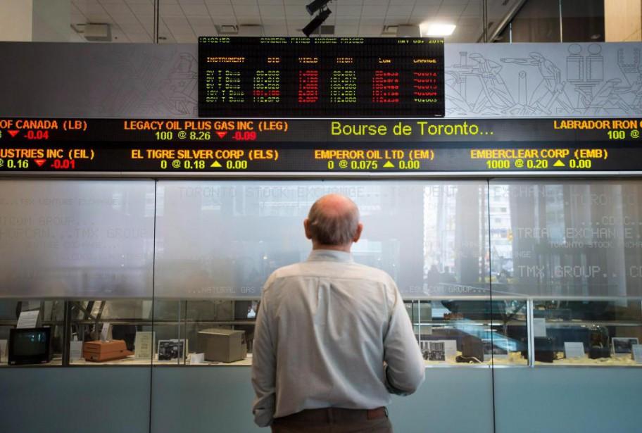 À première vue, la Bourse canadienne semble avoir... (PhotoDarren Calabrese, La Presse canadienne)