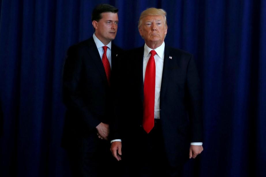 Rob Porter et Donald Trump.... (Photo Jonathan Ernst, archives REUTERS)