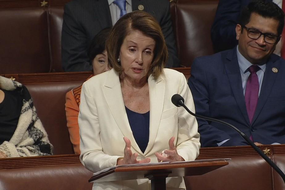 Nancy Pelosi, cheffe de la minorité démocrate de... (PHOTO REUTERS)