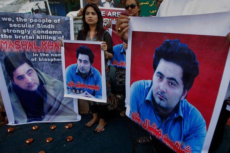 Mashal Khan, réputé être un libre penseur épris... (photo fareed khan, associated press)