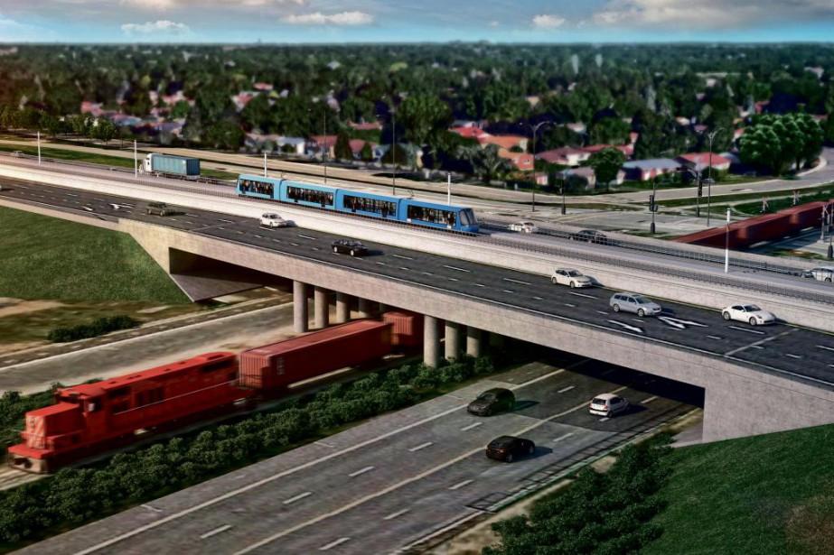 Le Réseau électrique métropolitain nécessitera 67kilomètres de voies... (Image fournie par CDPQ Infra)