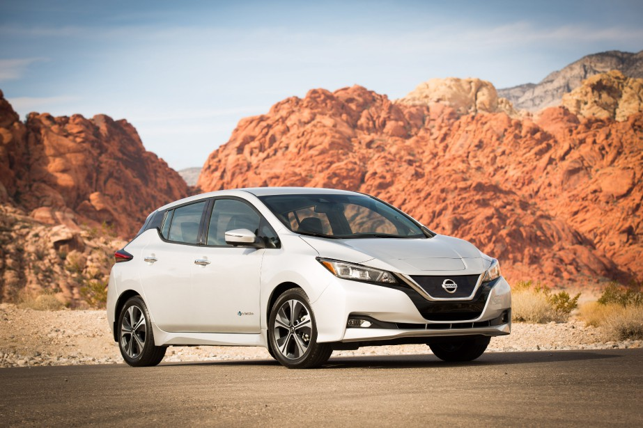 La Nissan Leaf 2018 sera en concession ce printemps. (Photo : Nissan)