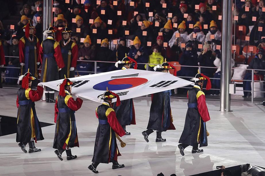Le drapeau de la Corée du Sud. | 9 février 2018
