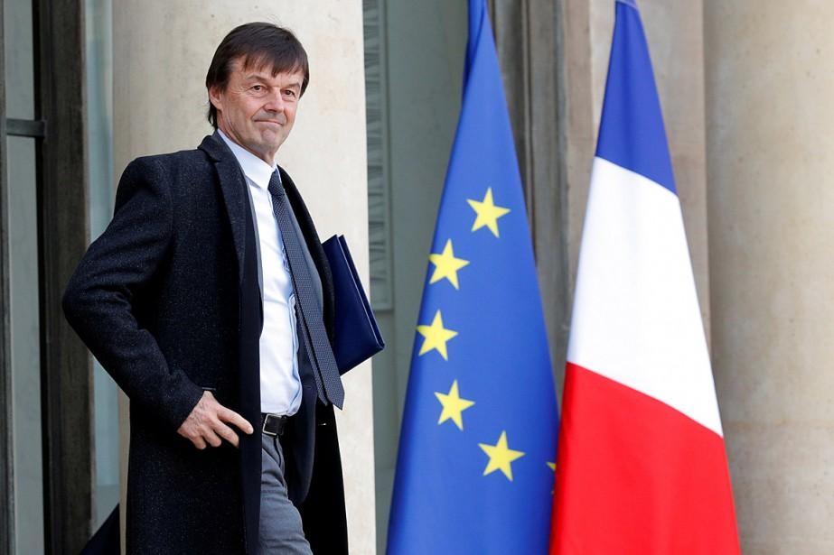NicolasHulot, ministre de la Transition écologique et un... (PHOTO PHILIPPE WOJAZER, REUTERS)