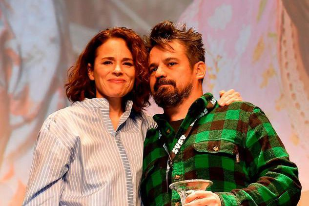 Suzanne Clément et Robin Aubert à la cérémonie... (Photo JEAN-CHRISTOPHE VERHAEGEN, Agence France-Presse)