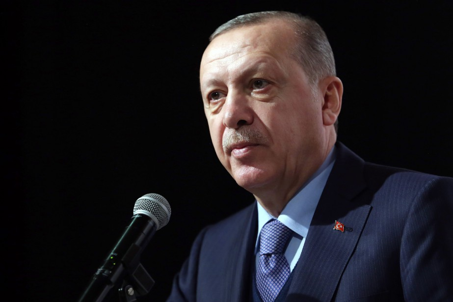 Le président turc Recep Tayyip Erdogann'a pas précisé... (PHOTO Murat Cetinmuhurdar, AP)