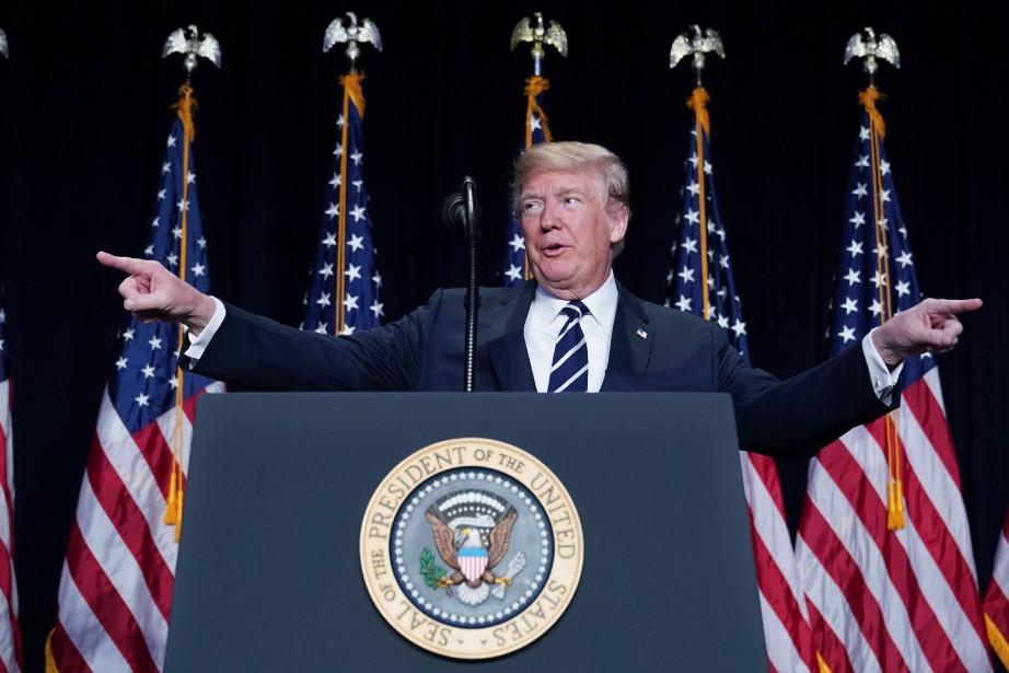 Le président américain Donald Trump... (PHOTO MANDEL NGAN, AFP)