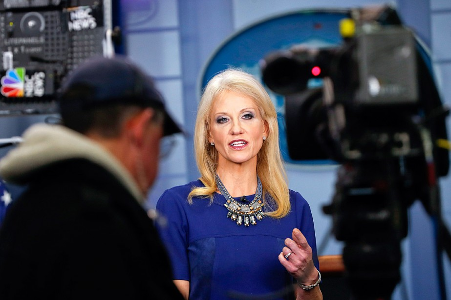 La conseillère de Donald Trump Kellyanne Conway était au... (PHOTO PABLO MARTINEZ MONSIVAIS, ARCHIVES ASSOCIATED PRESS)