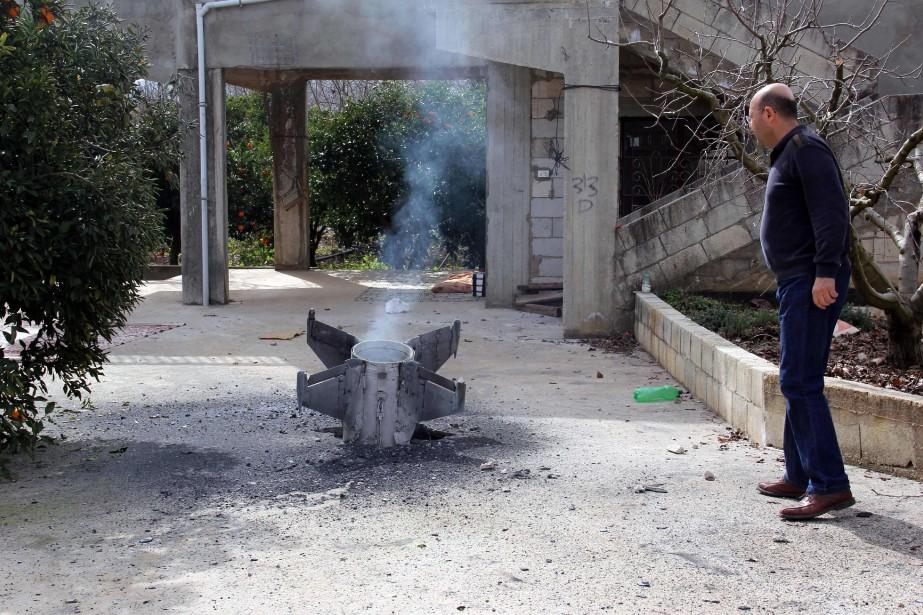 Cette photographie captée samedi montre les restes d'un... (PHOTO AFP)