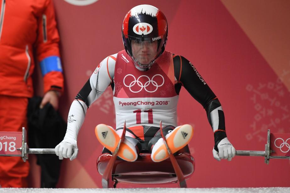 Alex Gough est troisième à l'issue des deux... (Photo Mark Ralston, Agence France-Presse)