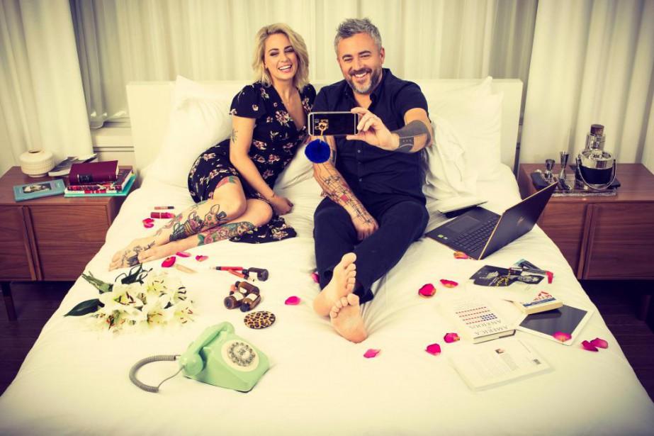 L'animatrice Valérie Roberts et le restaurateur Martin Juneau... (Photo Martin Tremblay, La Presse)