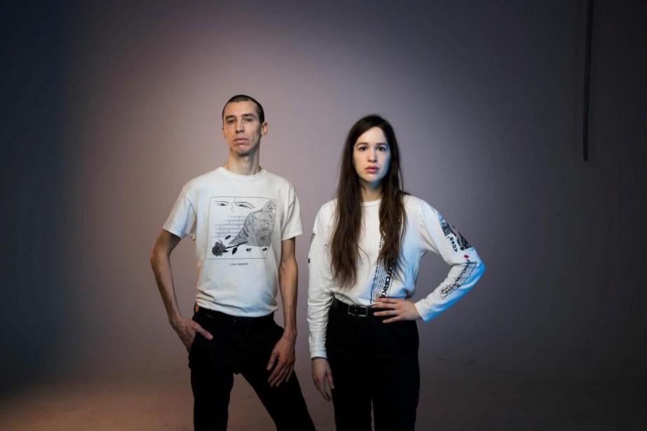 Pierre Guérineau etMarie Davidson forment le duo Essaie... (PHOTO MARCO CAMPANOZZI, LA PRESSE)