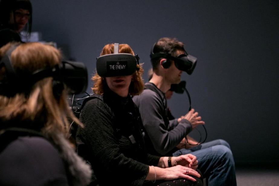 Le Centre Phi présente l'expérience de réalité virtuelle... (Photo David Boily, La Presse)