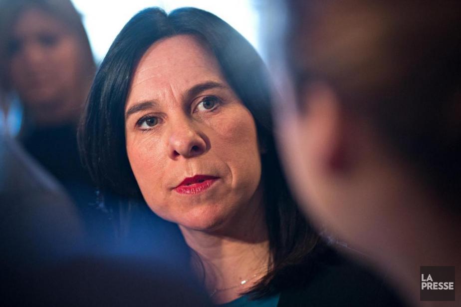 La mairesse Valérie Plante, lors d'un point de... (Patrick Sanfaçon, archives La Presse)