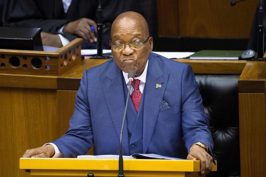 Jacob Zuma... (Photo RODGER BOSCH, archives Agence France-Presse)