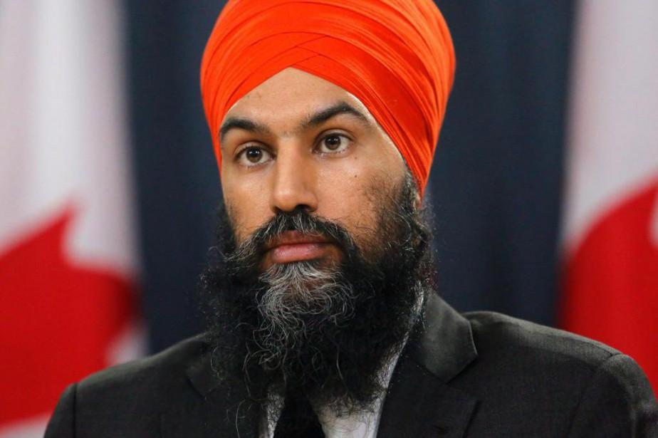 Le chef du NPD, Jagmeet Singh... (Photo Patrick Doyle, La Presse canadienne)