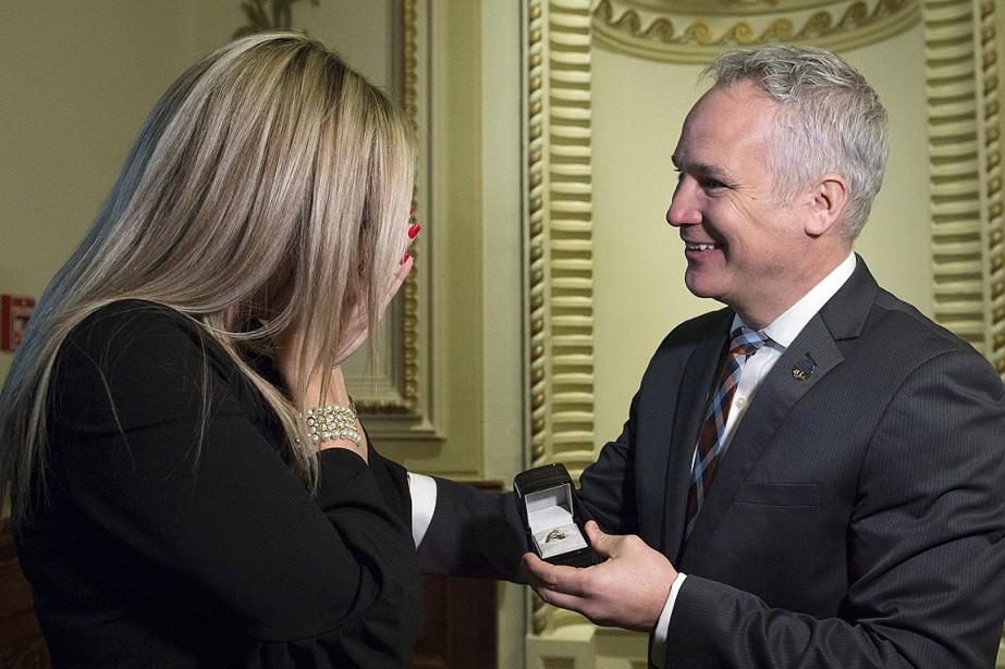 Le député caquiste de l'Arthabaska,Éric Lefebvre, a demandé... (Jacques Boissinot, PC)