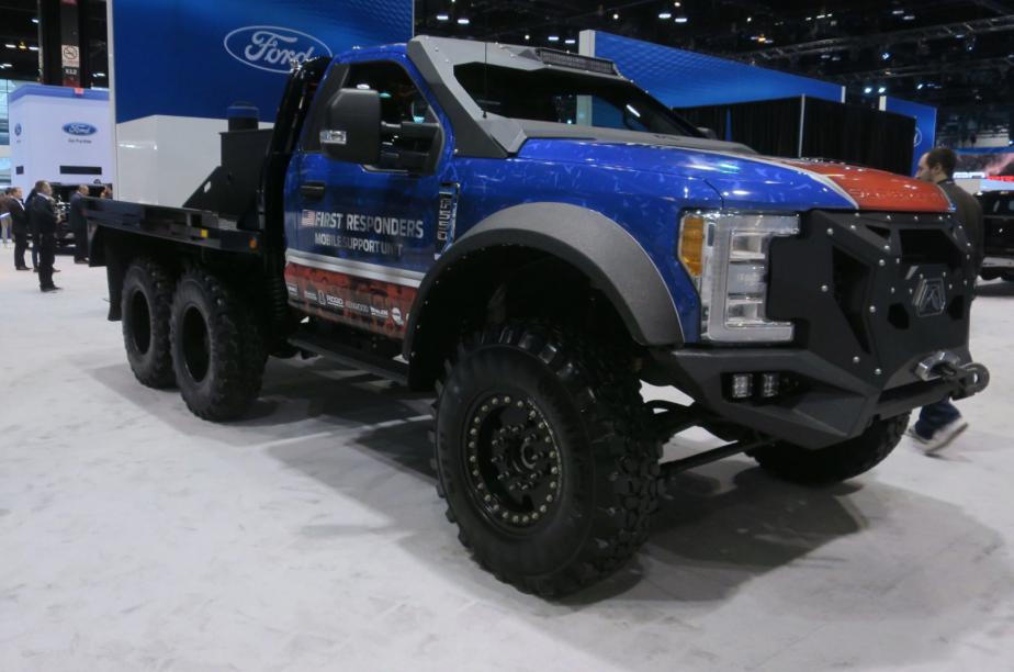 Le véhicule d'intervention d'urgence Ford F-5502018 de Skeeter Brush Trucks, est destiné aux premiers répondants. | 14 février 2018