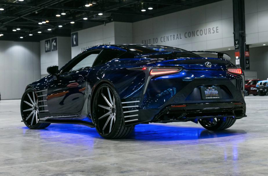 La Lexus LC Black Panther est un placement de produit dans le plus récent film de la franchise Marvel,  Black Panther.  | 14 février 2018