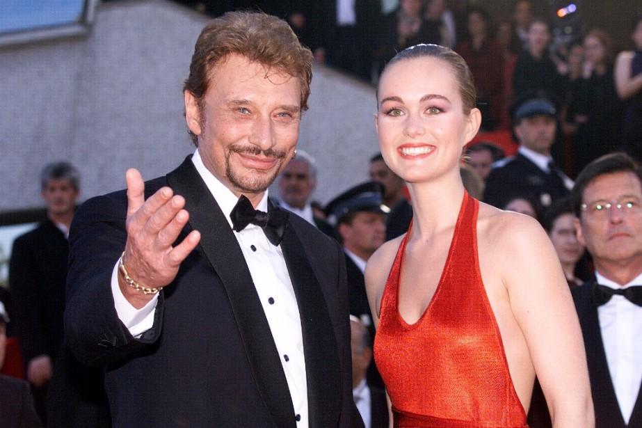 Johnny Hallyday et sa femme Laeticia à la... (Photo archives AFP)