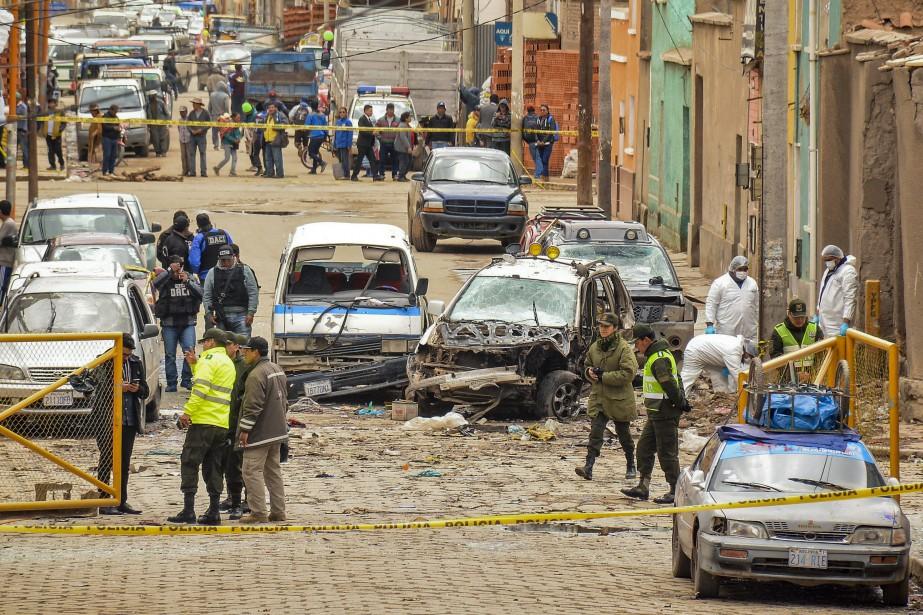 Une deuxième explosion en trois jours a fait... (Photo Emilio Huascar, AP)