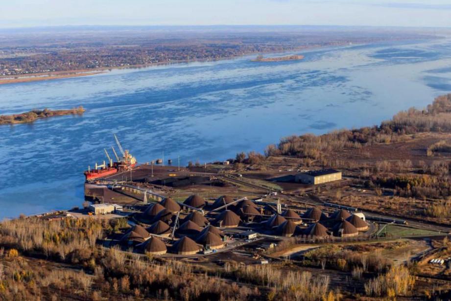 Selon l'étude d'impact environnemental de l'Administration portuaire de... (Photo fournie par le Port de Montréal)