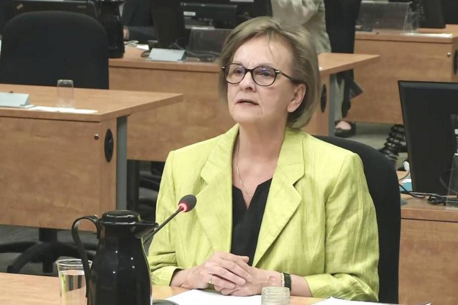 Violette Trépanier, ex-directrice du financement et du recrutement... (IMAGE TIRÉE D'UNE VIDÉO, ARCHIVES LA PRESSE)