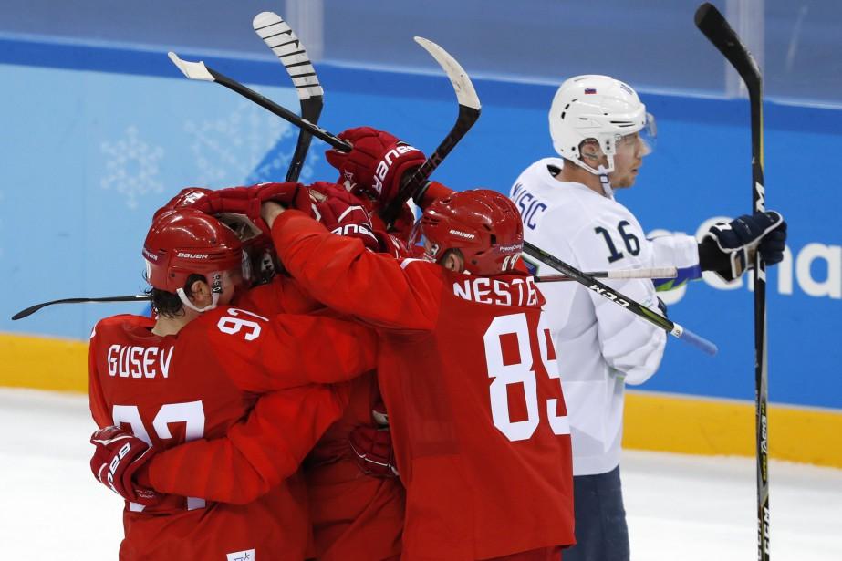 La Russie n'a pas laissé l'ombre d'une chance... (Photo Grigory Dukor, Reuters)