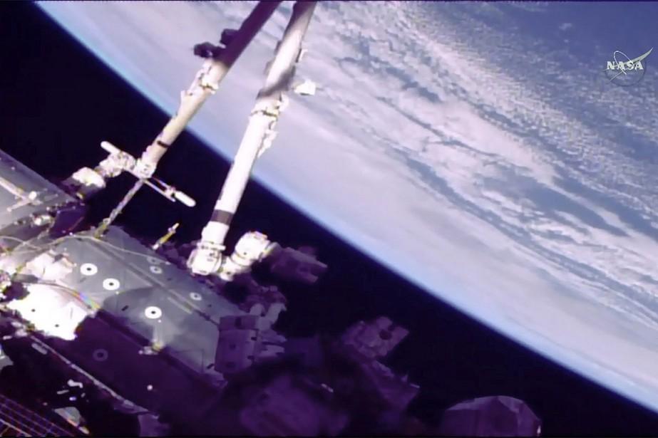 C'est la première sortie de Norishige Kanai, astronaute... (NASA VIA AP)