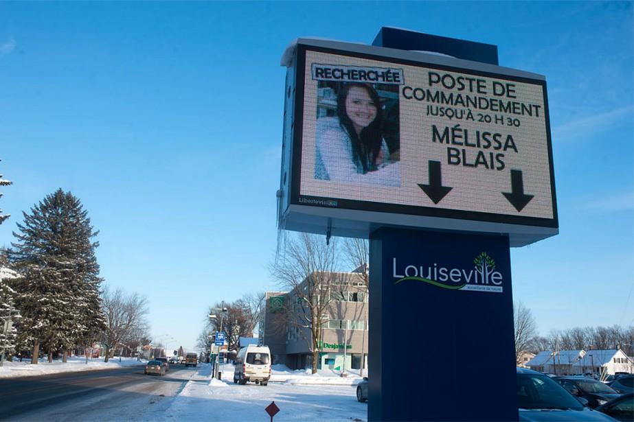 Rappelons que Mélissa Blais, 34 ans, est disparue...